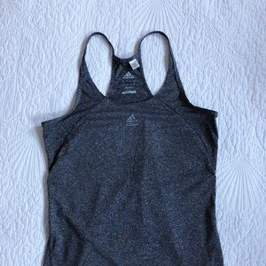 Adidas Racerback Heather Gray Sports Athletic Top